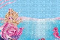 image encre couleur anniversaire barbie sirène hippocampe edited by me
