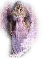 pink angel woman femme ange