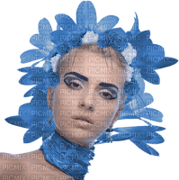 femme,visage,bleu,fille,deko,tube, Orabel
