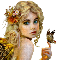 FAIRY woman child butterfly femme papillon