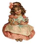 enfant fillette vintage  child girl doll
