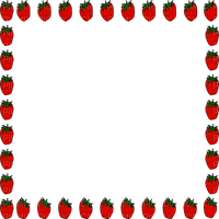 strawberry frame CADRE FRAISE