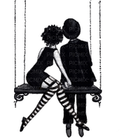 couple silhouette swing