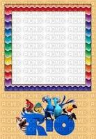 multicolore image encre couleur effet Rio cadre bon anniversaire  edited by me