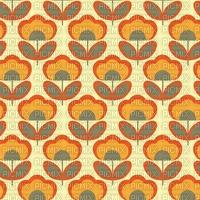 1960s floral pattern