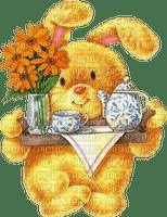 bunny hare hasen lièvre  sweet  easter animal animaux tube tea tee the breakfast