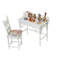 furniture table tisch vintage white möbel meubles tube chair stuhl chaise room chambre zimmer deco