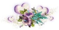 purple hearts deco violet coeur deco