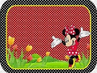 image encre bon anniversaire color effet à pois  Minnie Disney edited by me