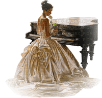 Kaz_Creations Woman Femme Playing Piano