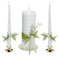 Kaz_Creations Deco Candles Flowers White