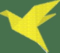 origami  yellow bird
