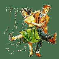 rock'n'roll music vintage people dance paintinglounge