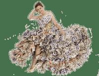 woman dress of money