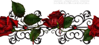 Gothic rose border gothique rose bordure