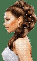 Woman White Brown Pearl  - Bogusia