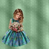 image encre couleur texture fille fleurs anniversaire edited by me
