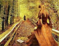 image encre paysage la nature femme automne edited by me
