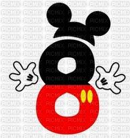 image encre numéro 8 bon anniversaire Mickey Disney edited by me