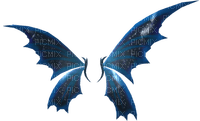dark blu fairy wings