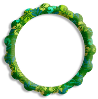 cadre cercle vert décoration_frame green circle decoration_tube