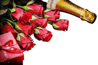 Champagne Rose Red Box Gold - Bogusia