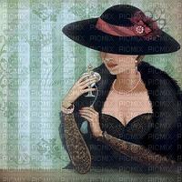 image encre couleur texture effet femme  anniversaire mariage chapeau edited by me