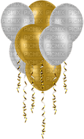 new year  silvester balloon deco gold