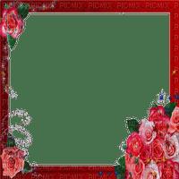 Red Flower Roses frame