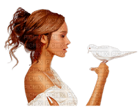 woman dove femme colombe