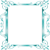 turquoise frame deco ornament  cadre turquoise