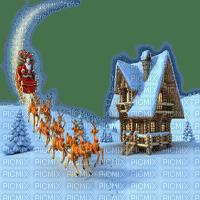 santa claus père Noël weihnachtsmann Papá Noel   landscape  winter hiver  house snow  image      fond background   landschaft paysage    christmas noel xmas weihnachten Navidad рождество natal tube