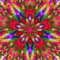 multicolore art image rose bleu jaune rouge effet kaléidoscope kaleidoscope multicolored color encre