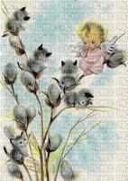 angel, kitties, spring, catkins