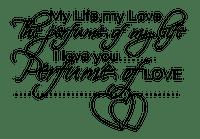 Perfume Love Life Heart Text - Bogusia