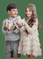 Enfants et colombe