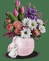 Kaz_Creations Deco Flowers Basket Colours Bunny Easter