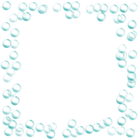 turquoise bubbles frame turquoise cadre