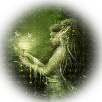 femme fantaisie vert woman green fantasy