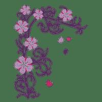 Coin fleur violet purple flower corner