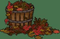 autumn basket leaves deco automne panier feuilles