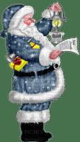 Pere Noël Bleu et lanterne