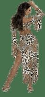 femme  en  imprimé animal web
