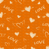 Love, Heart, Hearts, Orange, Deco, Background, Backgrounds - Jitter.Bug.Girl