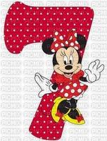 image encre bon anniversaire numéro 7  Minnie Disney edited by me