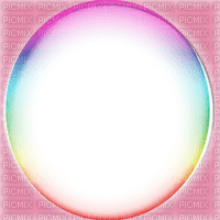 pink circle frame colorful