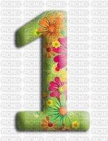 image encre numéro 1 fleurs bon anniversaire edited by me
