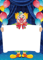 cadre frame rahmen tube foto clown birthday fond balloon blue anniversaire