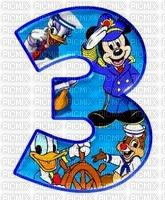 image encre numéro 3 bon anniversaire  Disney edited by me