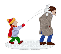 Snow, Snowballs, Snowball Fight, Man, Dad, Father, Son, Boy, Boys, Kid, Kids, Winter, Christmas, X-Mas - Jitter.Bug.Girl
